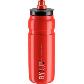 Elite Fly Trinkflasche 750ml rot/schwarzes logo